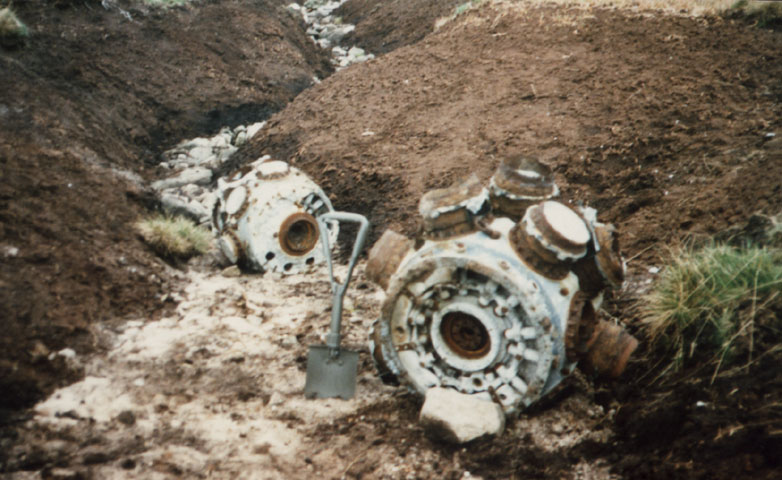 Remains of two engines