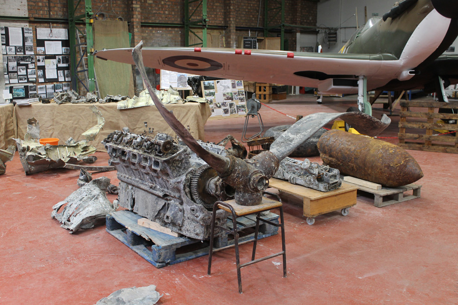 Ju 88 parts on temporary display
