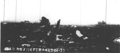 Wreckage of 42-8621